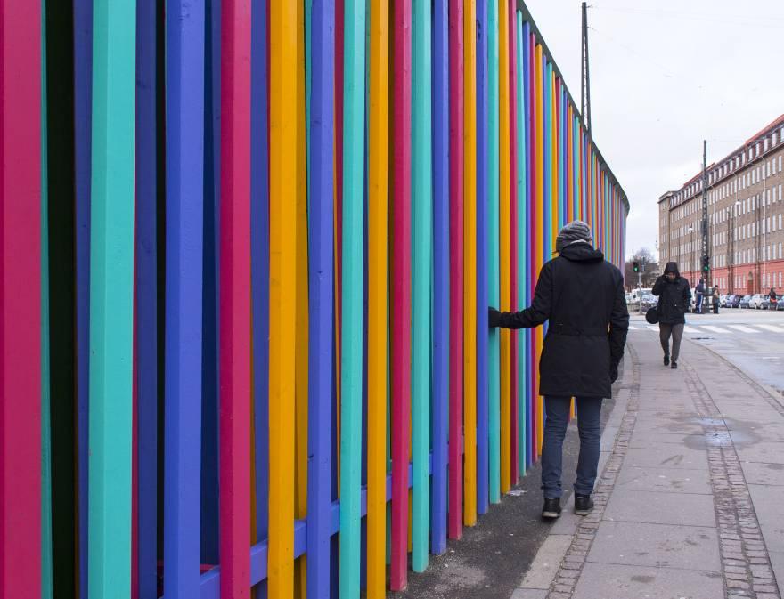 Γιώργος Κουτσούρης, «Sonic Curtain», 2016. Nørrebro Station, Κοπεγχάγη