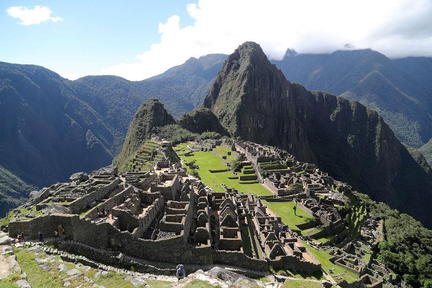 Πανοραμική φωτογραφία του μνημείου Μάτσου Πίτσου