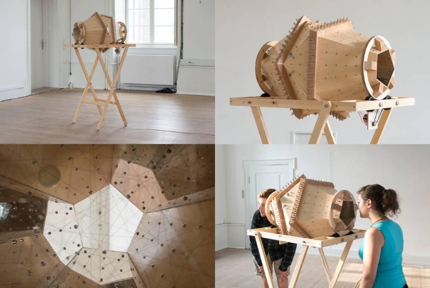 Γιώργος Κουτσούρης, «A string kaleidoscope», ηχητικό γλυπτό, 2016