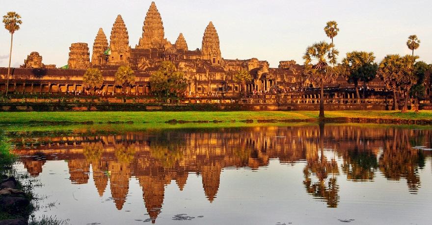 Ο ναός Ankor Wat στην Καμπότζη