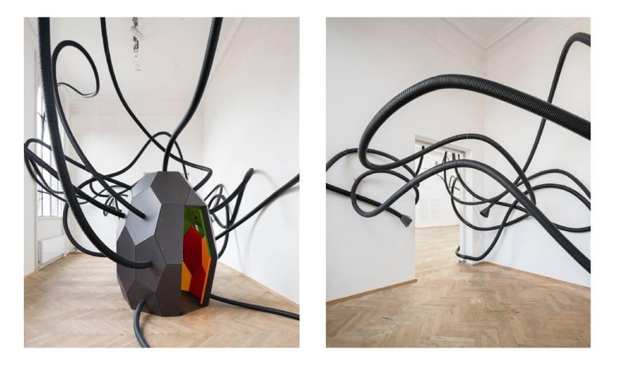 Γιώργος Κουτσούρης, «A strangers attractor», 2018, ηχητικό γλυπτό - εγκατάσταση