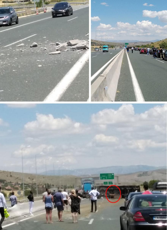 Ανατροπή φορτηγού στην Εγνατία Οδό είχε ως αποτέλεσμα να γεμίσει αγελάδες ο δρόμος