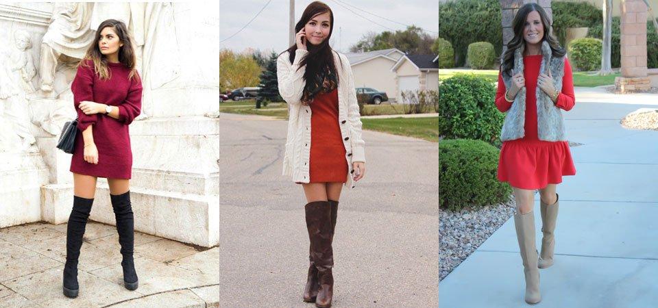 15 outfits για τις ψηλές σου μπότες  7cd69599543