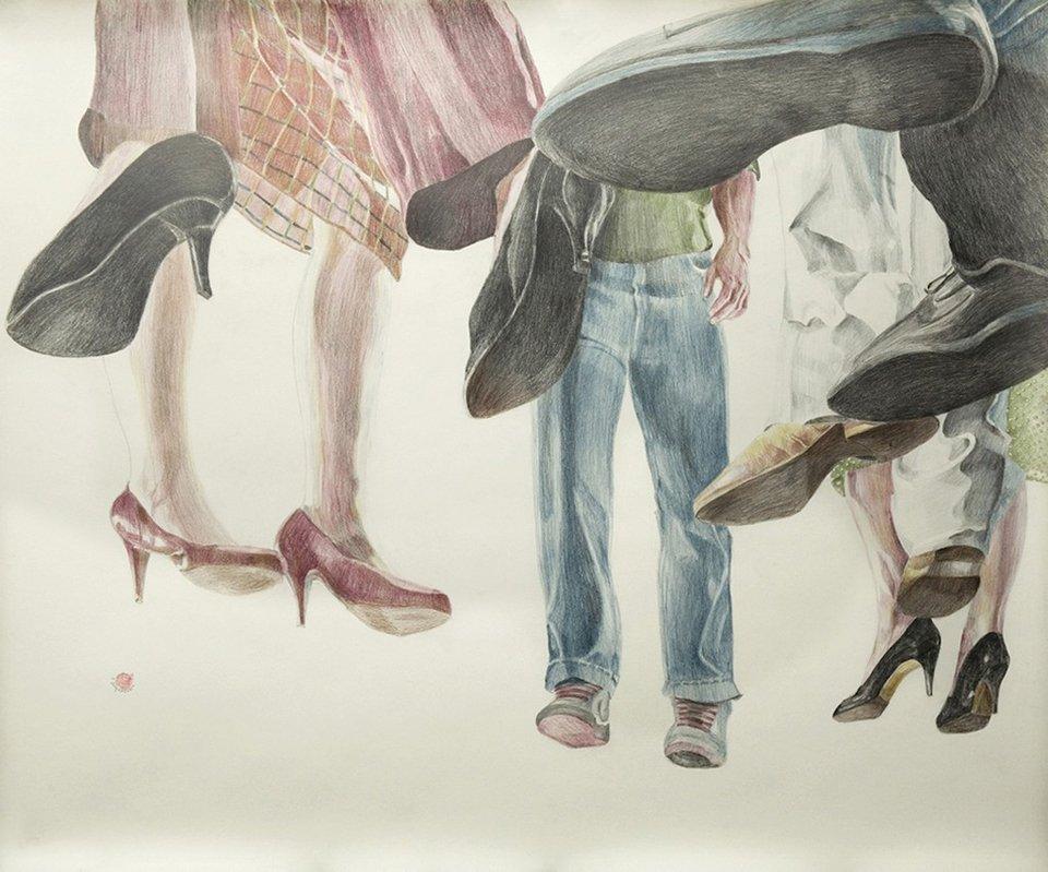 image. Γεωργία Δαμοπούλου In Limbo 2015 Σχέδιο σε χαρτί 100x130cm Γκαλερί  Ζήνα Αθανασιάδου ... 99f61d4e8dd