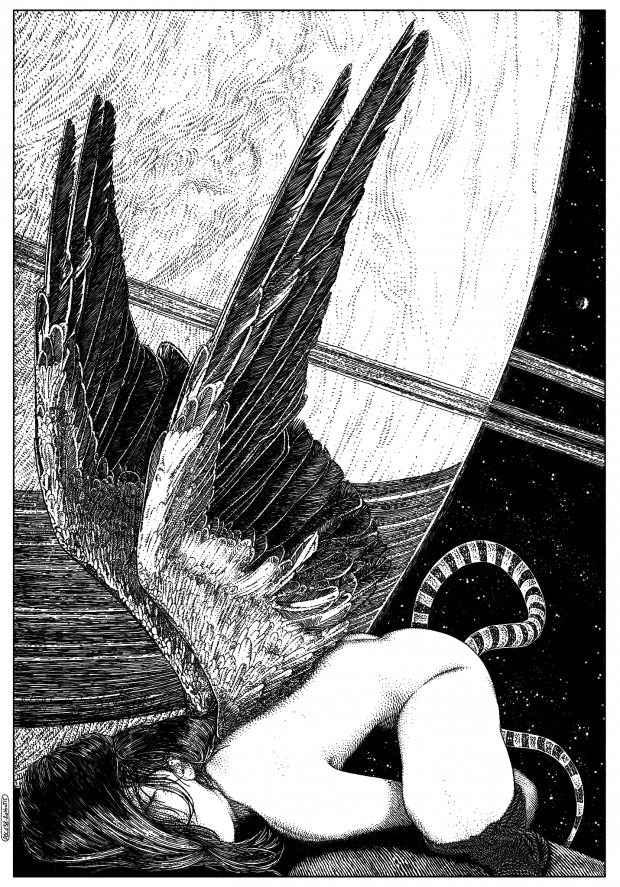 L'ange incarnè (The earhtly angel) © Apollonia Saintclair