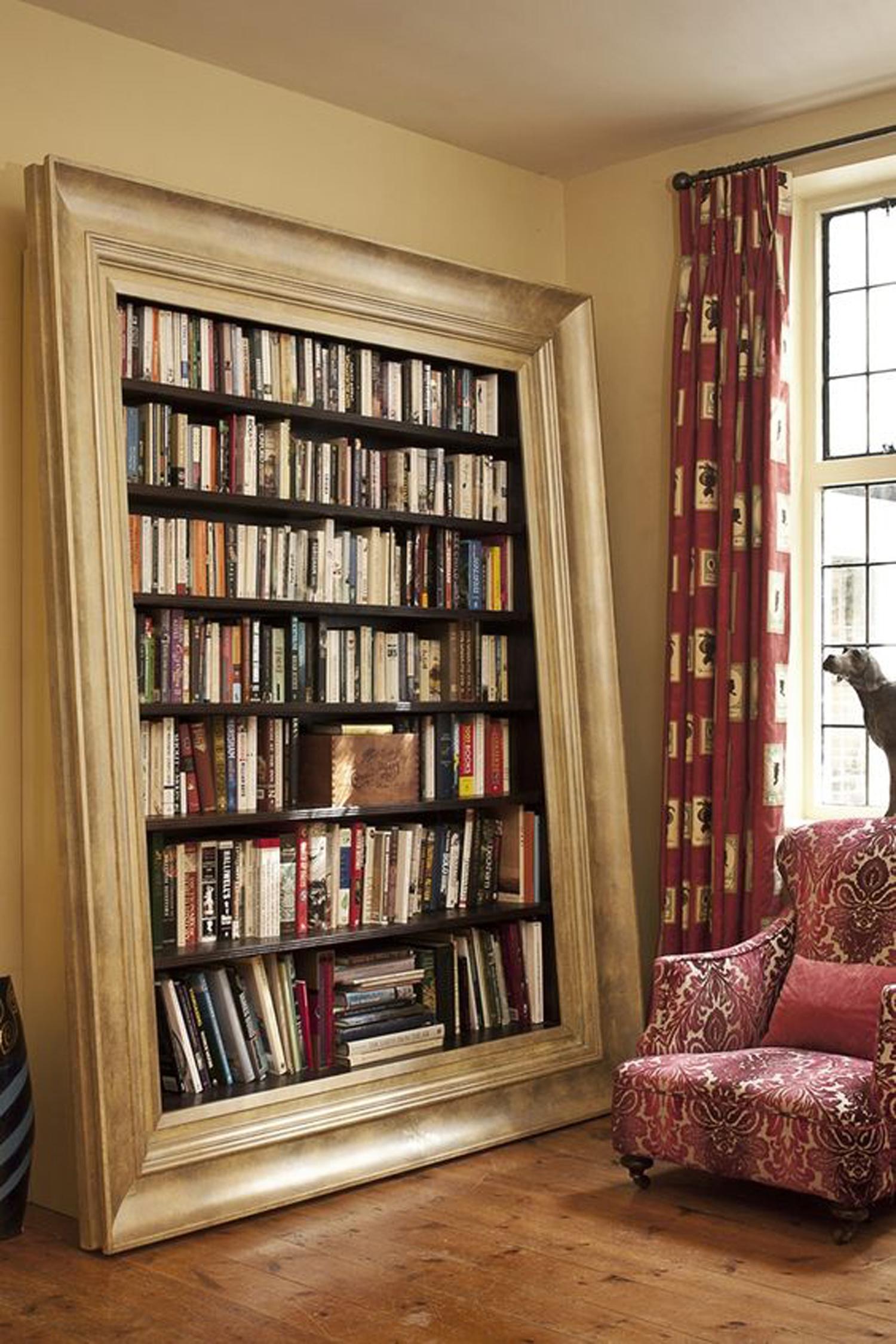 Η βιβλιοθήκη- κορνίζα