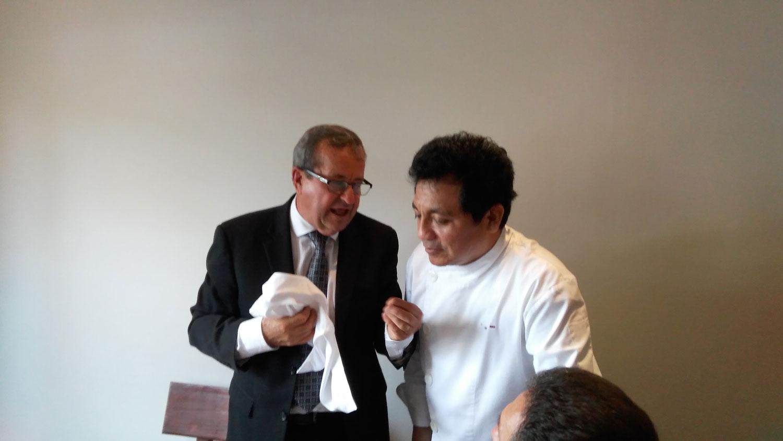 Luis Molina, Hector Solís, εστιατόριο Fiesta Chorrillos