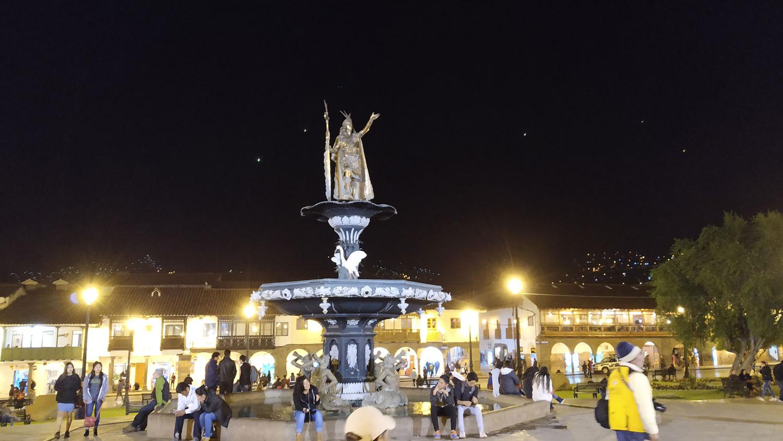 Cusco. Άγαλμα του βασιλιά Pachakutiq Inka Yupanki στην πλατεία των όπλων
