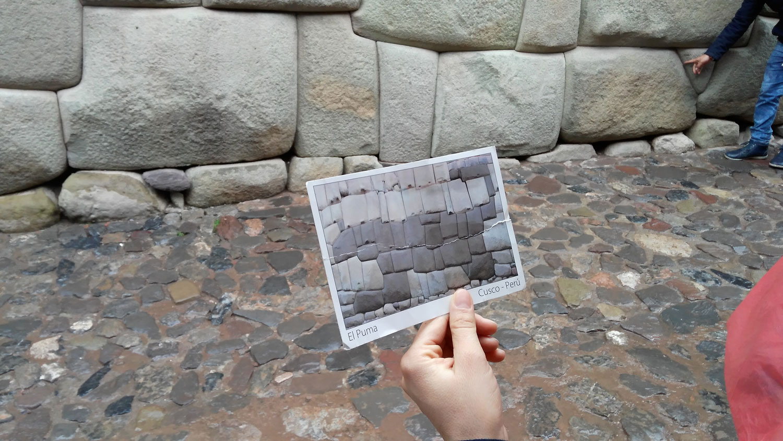 Cusco: Πέτρες με πιο σκούρο χρώμα σχημάτιζαν στον τοίχο ένα πούμα