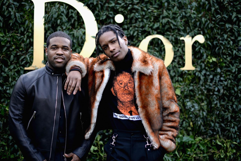 Οι rapers Αsap Rocky και Asap Ferg σε επίδειξη μόδας του οίκου Dior