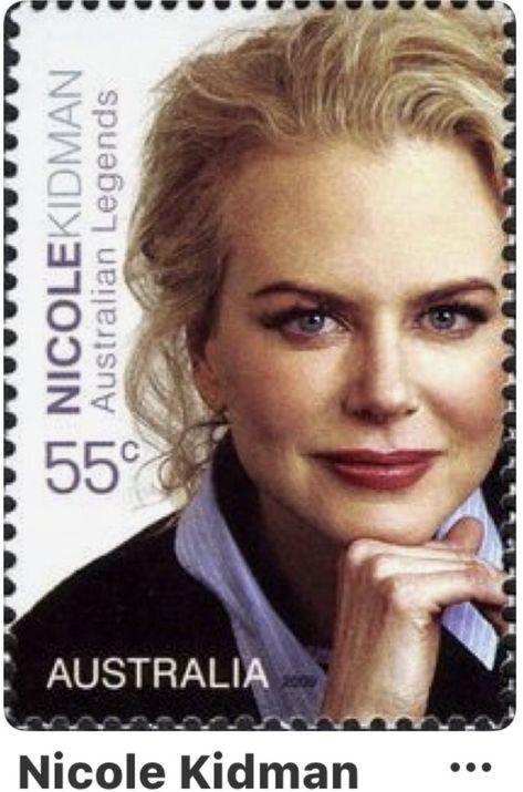 Το γραμματόσημο με τη Nicole Kidman που κυκλοφόρησε στην Αυστραλία