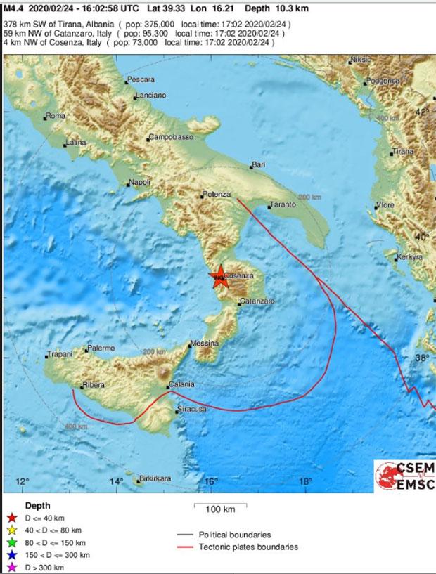 Seismos 4 7r Sth Notia Italia Poy Entopisthke To Epikentro