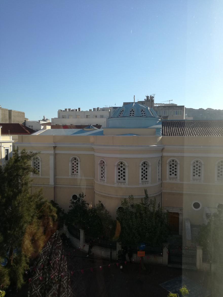 Θέα από το πρώην ξενοδοχείο Park, στην πλατεία Αγ. Ειρήνης