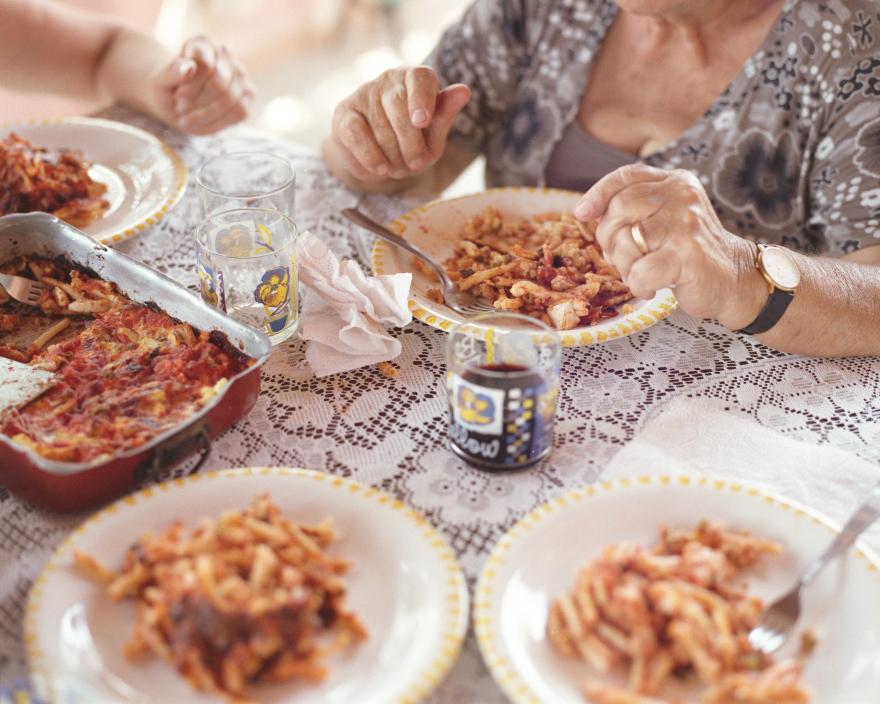 Παραδοσιακή πάστα taiano από τη Σικελία