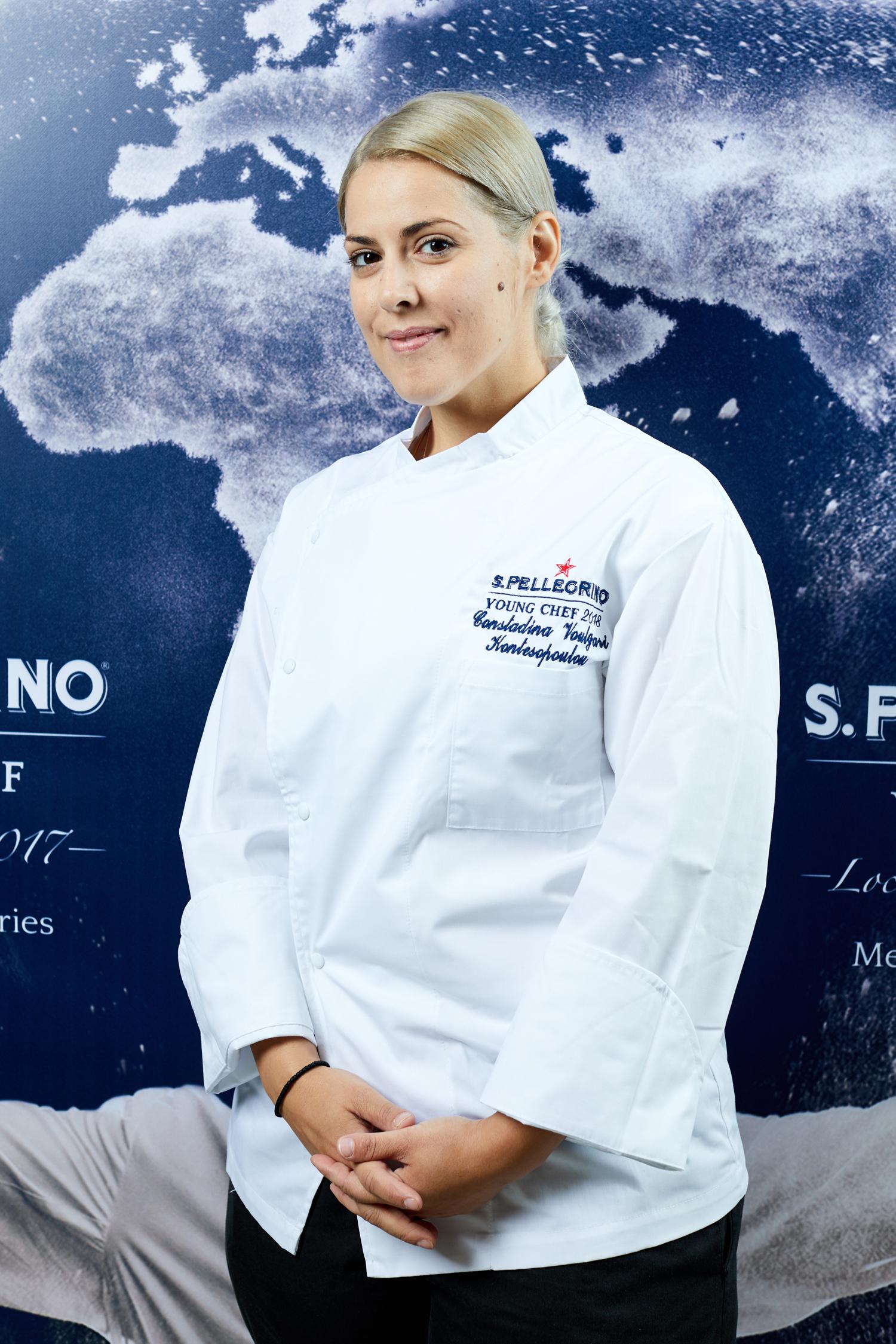 Η Κωνσταντίνα Α. Βούλγαρη – Κοντεσοπούλου αναδείχθηκε το περασμένο καλοκαίρι νικήτρια για τις Χώρες της Μεσογείου στον Τοπικό Διαγωνισμό S. Pellegrino Young Chef 2018