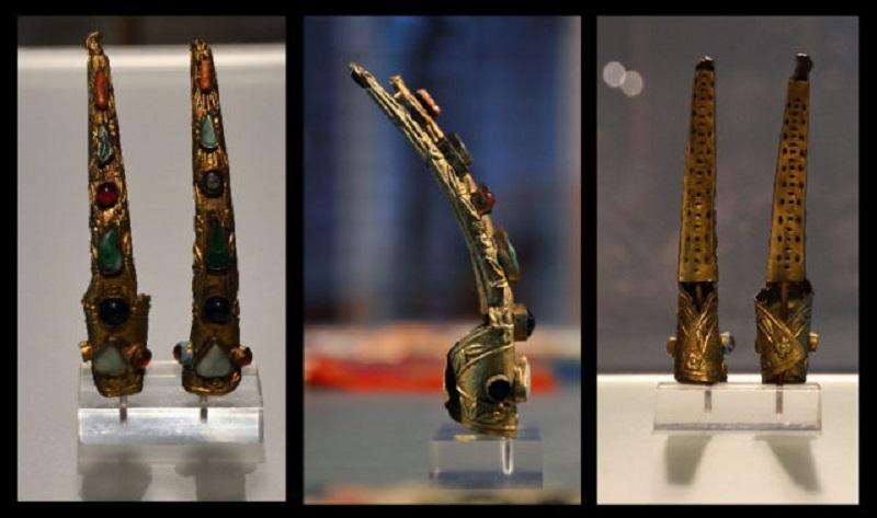 Προστατευτικά νυχιών από χαλκό και πολύτιμους λίθους. Κίνα, Δυναστεία Qing, 1900-1910 © Wikimedia Commons