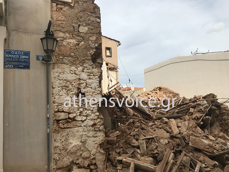 Κατάρρευση κτιρίου στην Πνύκα