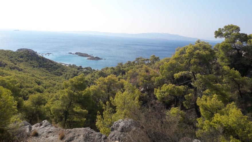 Η θέα από το σπήλαιο του Ευριπίδη