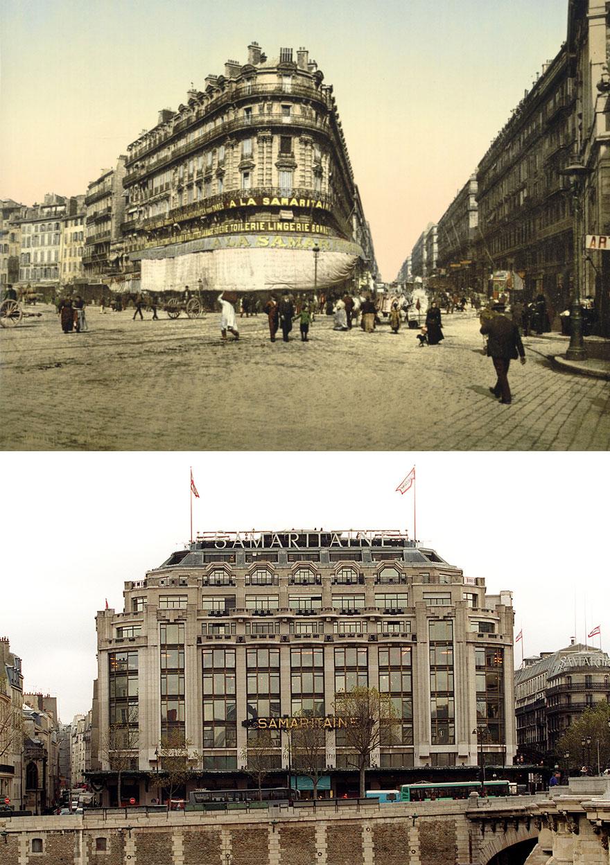 Samaritaine: Το εμβληματικό κτίριο τη δεκαετία του 30' και στις αρχές του 21ου αιώνα
